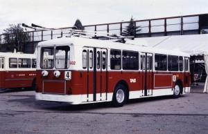 Trolleybus Vétra VBF SGTE n° 662