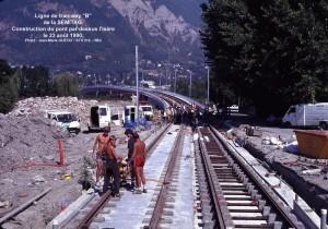 Ligne de tram ''B''  = travaux = pont des Taillées