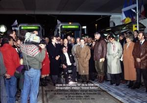 Ligne de tram ''B''  = inauguration
