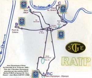 Plan général des 3 Navettes Olympiques principales