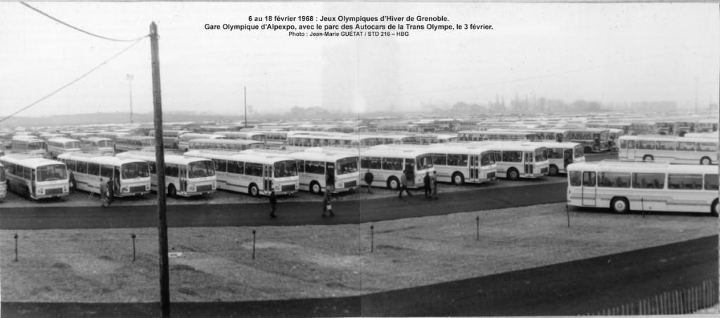 Trans Olympe aux JO de Grenoble = Gare d'Alpexpo