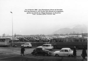Transport Officiels aux JO de Grenoble = dans des 4-L et R-16
