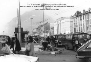 Transport Officiels aux JO de Grenoble dans des Estafette