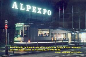 terminus Alpexpo en soirée