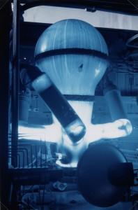 Ampoule à mercure de la sous-station électrique