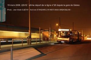ligne 26 : dernier départ de Gare de Gières