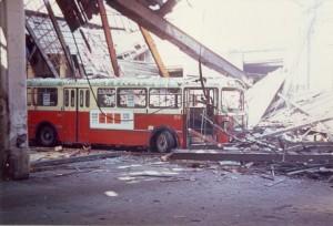effondrement du toit du dépôt Anatole France
