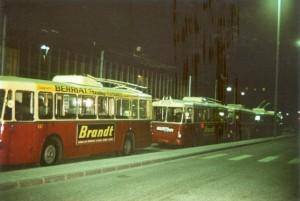 stockage extérieur des trolleybus