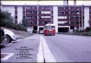 ligne 15 Village Olympique, été 1970