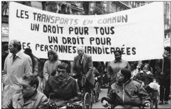 Manifestation d'handicapés - © Jean-Marie Guétat