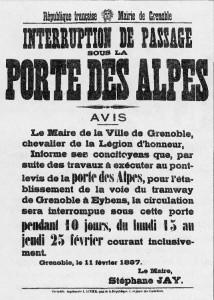 avis du Maire, 11 février 1887