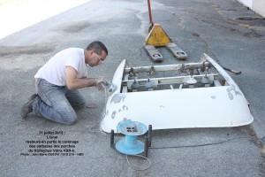 ponçage du carénage de toit du VBR-h