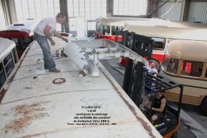 remontage du carénage de toit du VBR-h