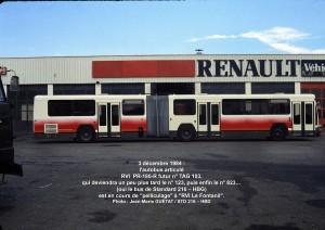 Futur 823, en cours pelliculage 2 - 3-12-1984