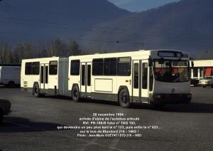 Notre futur 823, tout juste arrivé de l'usine, le 28 novembre 1984