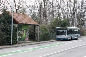 GX317 confié à Transdev Dauphiné, au terminus La Détourbe, le 14/1/2012