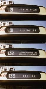 Les lignes 131, 132 et 133 sur la girouette d'un SC 10