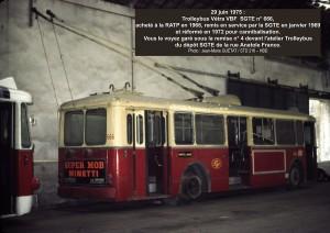 Vétra VBF n° 666 cannibalisé = 29-06-1975°