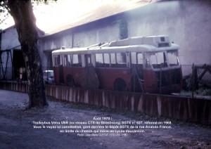 Vétra VBR n° 627 cannibalisé = août 1970°