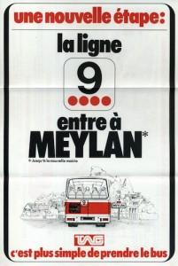 Prolongement de la ligne 9 à Meylan, le 25 octobre 1976