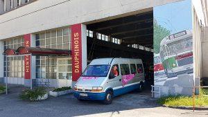 Le n° 1019 à son arrivée à l'Histo Bus Dauphinois le 17 mai 2017